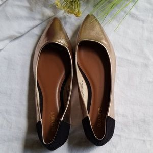 Old Navy Gold and Black Flats Size 7.5